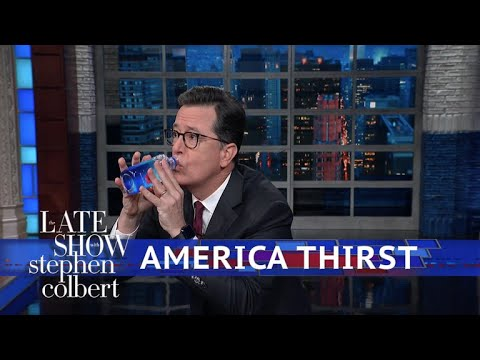 Stephen Has A Drink For Trump... Or Tries To