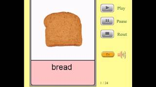 Audio Flashcards for Kids - All Foods