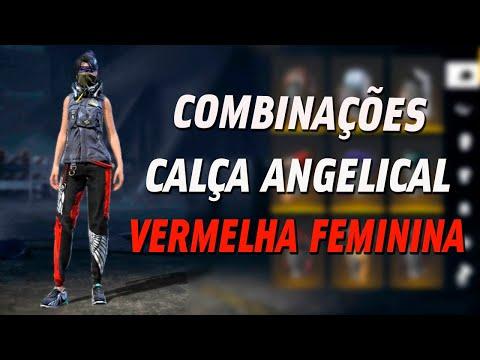 MELHORES COMBINAES DE ROUPAS FEMININAS NO FREE FIRE - CALA ANGELICAL VERMELHA, S COMBINAES TOP