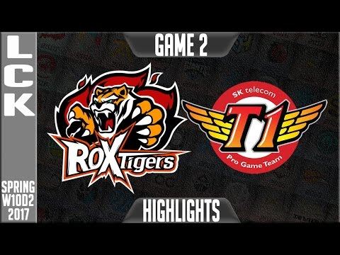ROX Tigers vs SKT Highlights Game 2 - LCK W10D2 Spring 2017 ROX vs SKT G2