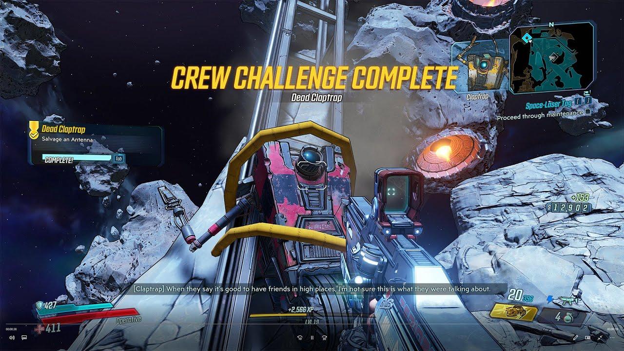 Video Dead Claptrap - Salvage an Antenna - Crew Challenge