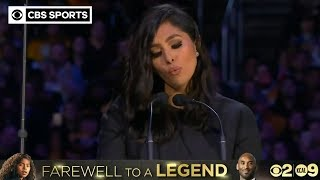 A public memorial to celebrate the life of Kobe and Gianna Bryant, along with seven victims who died in the tragic helicopter crash took place 2/24/2020 at Staples Center.  SUBSCRIBE TO OUR CHANNEL: https://www.youtube.com/user/CBSSports   FOLLOW US ON: Facebook - https://www.facebook.com/CBSSports/ Instagram - https://www.instagram.com/cbssports/ Twitter - https://twitter.com/CBSSports  #NBA #KobeBryant #VanessaBryant #KobeMemorial
