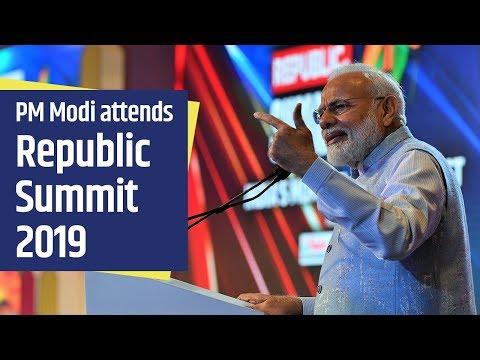 PM Modi attends Republic Summit 2019 in New Delhi   PMO