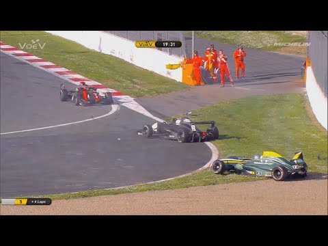 Challenge Monoplace V de V 2018. Race 2 Circuit de Nevers Magny-Cours. Pietro Peccenini Big Crash