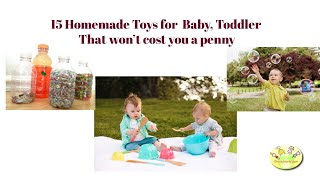 15 Homemade Toys For Your Baby, Toddler That Won't Cost You A Penny
