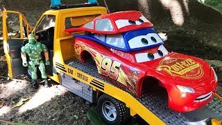 Change & Race Cars 3 Toys Lightning McQueen Unboxing Fun With Ckn Toys