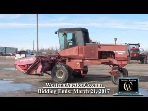 Hesston 6650 Self Propelled Windrower | Western Auction Co