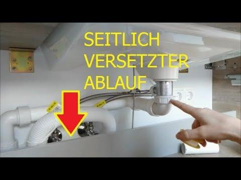 DIY Siphon Anschluss am versetzten Abflussrohr Fackelmann Stanford Waschbecken Unterschrank