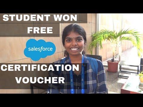 College Student won free Salesforce certification voucher in ...
