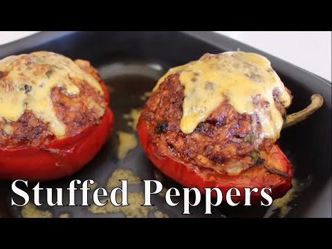 Enchilada Stuffed Bell Peppers With Linda's Pantry