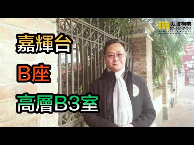 【#代理Arthur推介】嘉輝台B座高層B3室