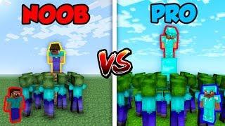Minecraft NOOB vs. PRO: ZOMBIE APOCALYPSE in Minecraft!