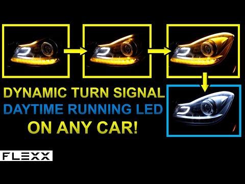 Install Daytime Running Light DRL & Dynamic Turn Signal LED Strip on any Mercedes
