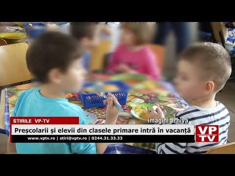 Preșcolarii și elevii din clasele primare intră în vacanță