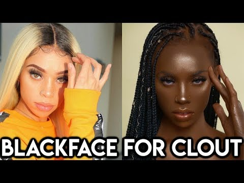 "IG Model does BL@CKFACE to support ""Melanin Queens"" #ChiomaChats"