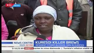 Kuresoi residents stormed a brewing den after man died after consuming liquor