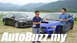 2015 Subaru WRX STI review (vs EVO X) - AutoBuzz.my