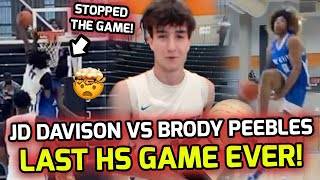 JD Davison Takes On Brody Peebles For KING Of Alabama Hoops! POSTER Stops The Whole Game! 🍿