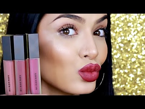 Burberry Liquid Lip Velvet Swatches and Review  Makeupbyalaha