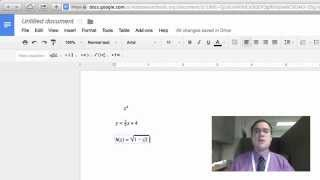 How To: Write Math Equations in Google Docs