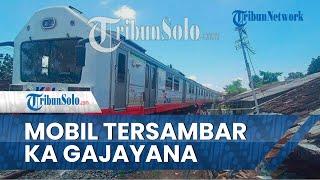 BREAKING NEWS: Mobil Tersambar KA Gajayana di Sidoharjo Sragen, 3 Orang Meninggal Dunia