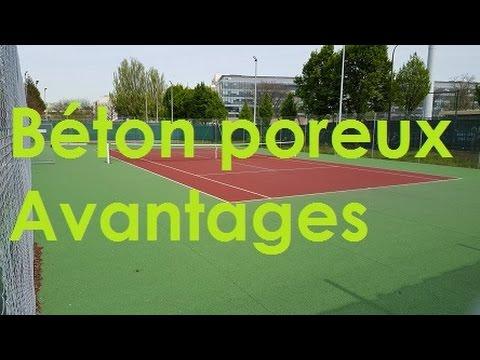 TENNIS : LES AVANTAGES DU BÉTON POREUX / QUICK