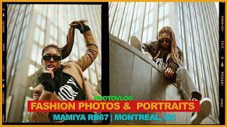 Fashion Photos & Portraits On MAMIYA RB67 // Fuji Pro400H // Downtown Montreal