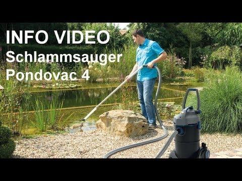 Schlammsauger Oase Pondovac 4 Teichsauger - Video: Teichreiniger für Gartenteich und Schwimmteich