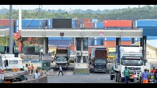 Goods inspection at port stopped - VIDEO