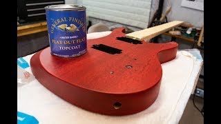 General Finishes Flat Out Flat Topcoat On A Guitar