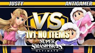 Justy (Zelda) vs. Antigamer (Ice Climbers/Ike) - SSBU Demo - TBH8