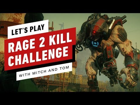 Let's Play Rage 2 - Trying to Take Down a Crusher With a Pistol