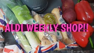 ALDI BUDGET GROCERY HAUL | MEAL PLAN | FEEDING A LARGE FAMILY