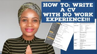 How to write a good cv with no work experience 🇿🇦