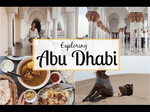 Video Exploring Abu Dhabi! Dune Bashing in the Desert, The Grand Mosque & More!