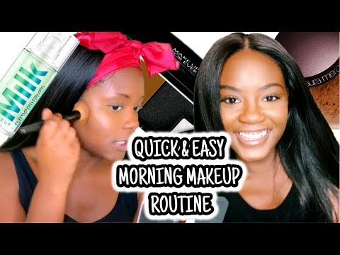 SIMPLE & QUICK Morning Makeup Routine for Work & School