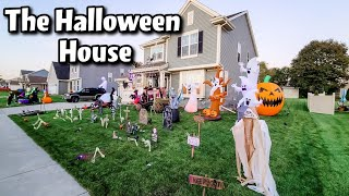 Outdoor Halloween Decorations! Decorating For Halloween! Cambriea And Bobby Family Fun Vlogs!