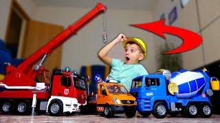 МЕЧТЫ СБЫВАЮТСЯ✨🚨🚒 СУПЕР КОМАНДА СТРОИТЕЛЬНЫХ МАШИН SUPER TEAM CONSTRUCTION MACHINES BRUDER