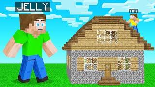 TINY HIDER Vs GIANT SEEKER In Minecraft! (Hide & Seek)
