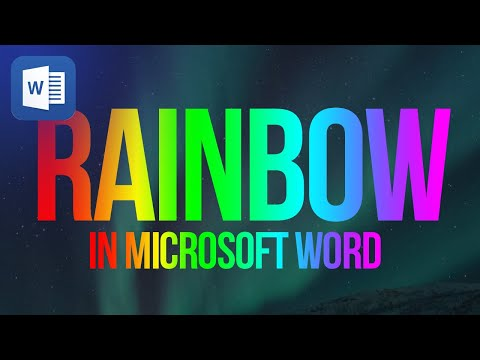 How To Create A Rainbow Text In Microsoft Word 2013 Mp3