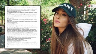 Ariana Grande Announces Manchester Benefit Concert & Shares Heartfelt Letter To Fans