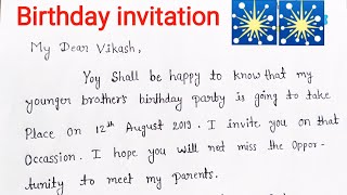 Write A Letter for your Birthday party Invitation