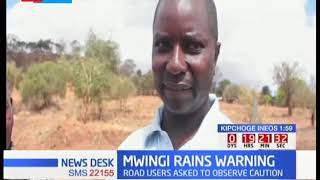 MWINGI RAINS: Sub - county officials issue warning to motorists as heavy rains damage roads