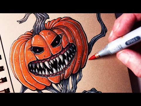 HALLOWEEN INKTOBER DRAWING