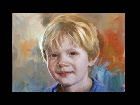 Painting a child in 6 steps. Oil painting.