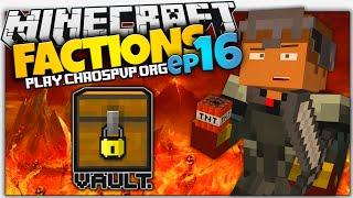 Minecraft Factions | #16 | I GOT RAIDED | Faction Vault Tutorial (Minecraft Factions Server)