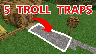5 Traps To REVENGE TROLL Your FRIENDS HOUSE In Minecraft 1.14 - 1.16 Survival
