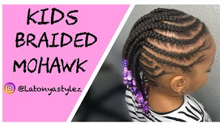 Easy Little Girl Braided Mohawk