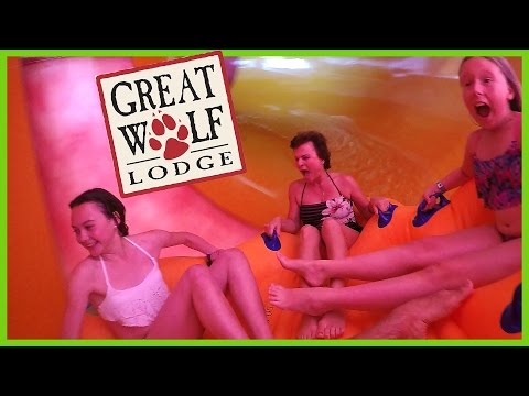FALLING DOWN HOWLIN'' TORNADO SLIDE AT GREAT WOLF LODGE!