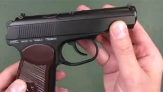 Пневматический пистолет KWC KM-44 Makarov от компании CO2 - магазин оружия без разрешения - видео 2
